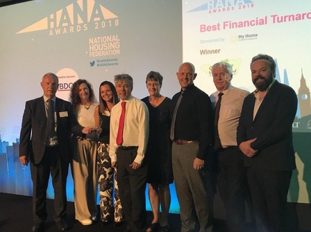Photo of the SHAL team at the HANA Awards