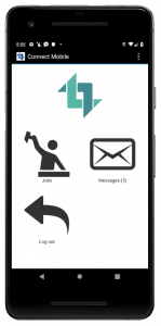 ConnectMobile App; Home page